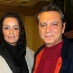 الهام چرخنده و همسرش فرشید نوابی