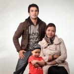 یوسف تیموری و همسر و پسرش