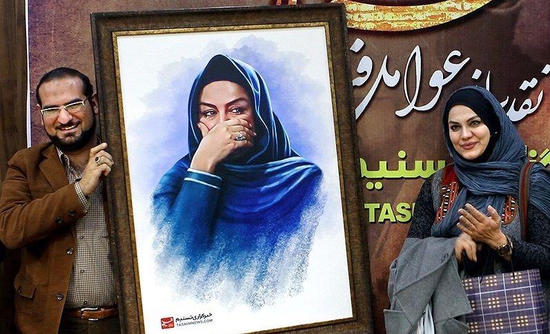 نرگس آبیار و همسرش محمد حسین قاسمی