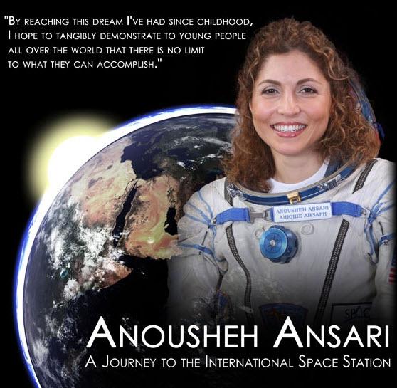 عکسهای انوشه انصاری اولین کاوشگر زن ایرانی