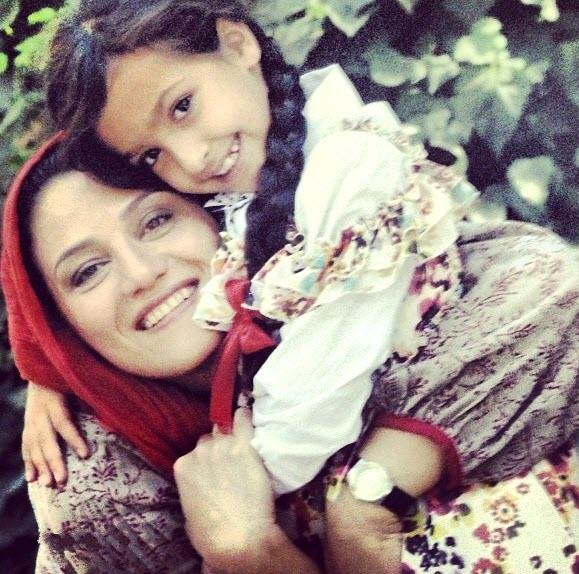 شبنم مقدمی و دخترش
