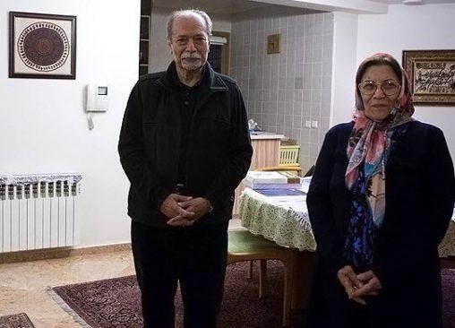 علی نصیریان و همسرش