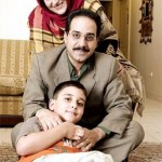 محمد نظری و همسر و پسرش
