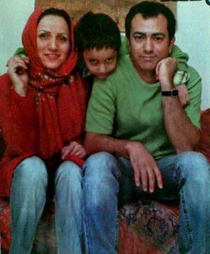 محمد رضا هدایتی و همسر و پسرش