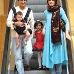 یوسف صیادی و همسر و فرزندانش