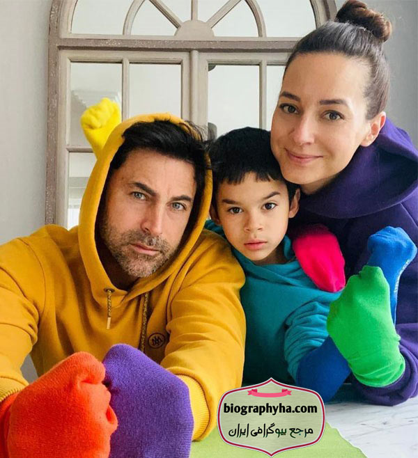 خانواده صدف اوجی - بیوگرافی صدف آوجی و همسرش کیوانچ کاسابالی با پسرش
